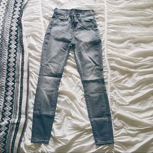 Lucky Brand Olivia High Rise Faded Grey Skinnies